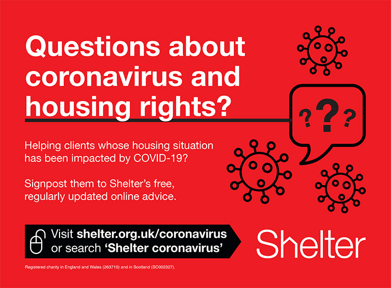 Questions about coronavirus and housing rights?